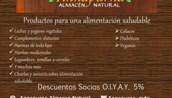 Descuento para Socios en Dietética ANNAPURNA – Mar del Plata, Argentina
